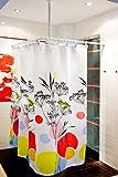 3 pièces de perche angulaire alu sans barrières lumineuses blanc - pousser comfortable du rideau sans barrières - perche pour rideau de douche