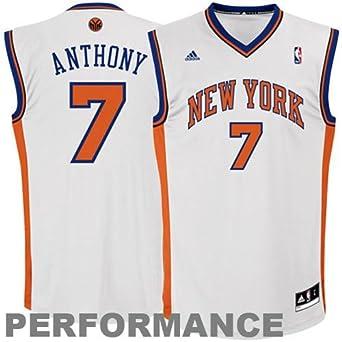 NBA New York Knicks Carmelo Anthony White Swingman Jersey Boys
