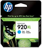 HP CD972AE - Cartucho de tinta HP 920XL de alta capacidad, cian