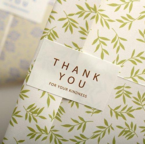 【WOCUZ】 THANK YOU FOR YOUR KINDNESS  ありがとうステッカー ラッピングシール バッキングステッカー 封印シール  160枚入れ 商品バッキング/ファイル手紙/ラッピング/ギフトなど適する 貼って剥がせる! 可愛くデコッちゃお♪