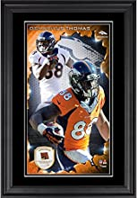 Demaryius Thomas Denver Broncos 10'' x 18'' Vertical Framed Photograph with Piece of Game-Used Football - Limited Edition of 250 - Fanatics Authentic Certified