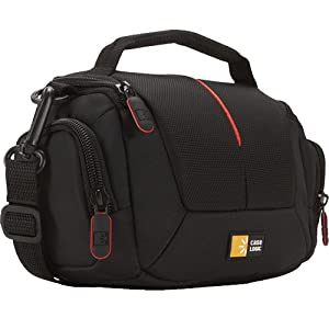 Case Logic DCB305 Compact Camcorder Kit Bag with Interior Dividers and Side Storage Compartments