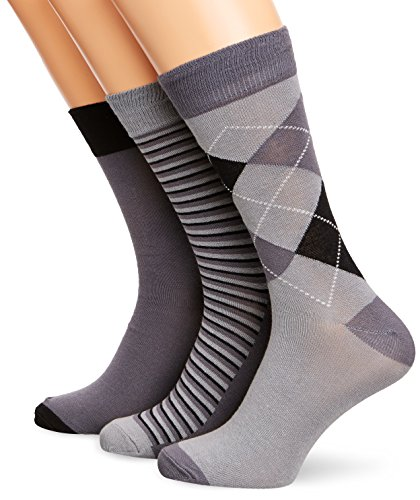 french-connection-tp2z2-calcetines-cortos-para-mujer-color-multicoloured-black-charcoal-grey-talla-t