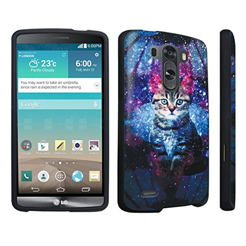 Durocase ® Lg G3 Hard Case Black - (Space Cat)
