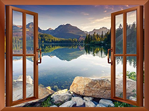 wall26® - Peaceful Lake in Autumn |High Quality Removable Wall Sticker / Wall Mural - 36