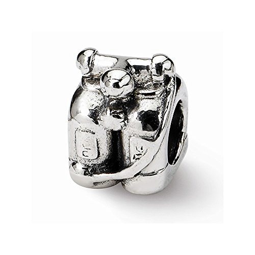 Reflection Beads Sterling Silver Scuba Tanks Bead (11x8 mm)