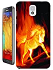 The Hallowmas Gift With Beautiful Fire Flowers Horses Dragon Nice Fashion Cell Phone Cases Design Special For Samsung Galaxy Note 3 No.6