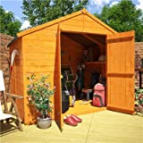 BillyOh 6' x 8' Windowless Lincoln Tongue And Groove Double Door Apex Wooden Garden Shed