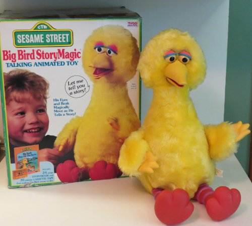 Vintage Original 1986 IDEAL STORY MAGIC Talking BIG BIRD Sesame Street Animated