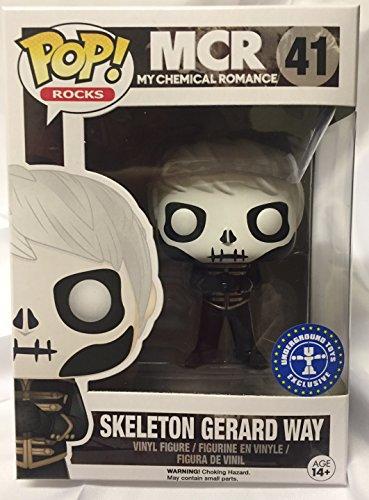 Funko - Figurine My Chemical Romance - Gerard Way Skeleton Face Version Pop 10cm - 0849803075262