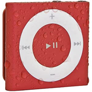 Waterfi 100% Waterproof iPod Shuffle with Dual Layer Waterproof/Shockproof Protection (Red)