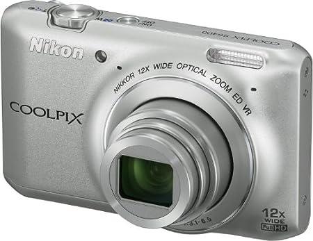 """Nikon Coolpix S6400 Appareil photo numérique compact 16,8 Mpix Ecran 3"""" Zoom optique 12x Argent"""