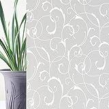 Rabbitgoo® Fensterfolie Dekofolie Sichtschutzfolie Fensterschutzfolie Selbstklebend Anti-UV 90cm*200cm