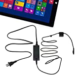 Patech 電源アダプタAC充電ケーブル USBポートメス付き Microsoft Surface Pro 3タブレットPCのWindows8用 12V2.5A [並行輸入品]
