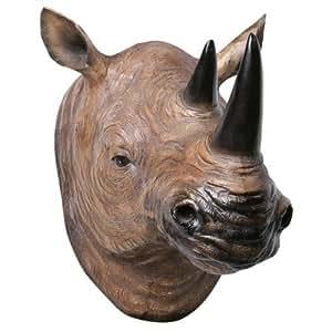 3D Fun Mounted Head Wall Sculpture - Rhino