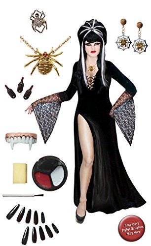 [Dark Mistress Plus Size Supersize Halloween Costume Deluxe Wig Kit 1x] (Elvira Plus Size Costumes)