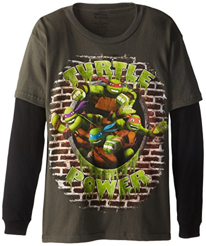 "Teenage Mutant Ninja Turtles Big Boys' TMNT Group ""Turtle Power"" Long-Sleeve Tee"