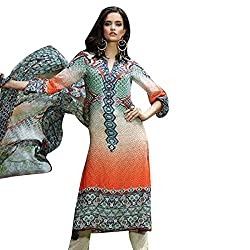 Pure Georgette printed suit with Chiffon Dupatta