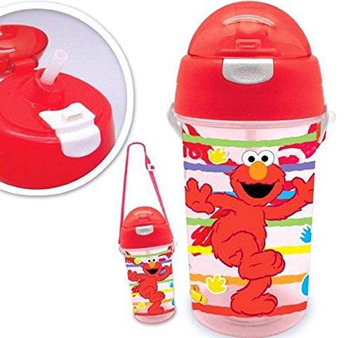 Sesame Street Elmo Kids Straw Water Bottle 17.5 Ounce front-1027445