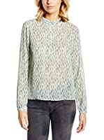 Tom Tailor Denim Camisa Mujer Bluse loose allover printed tunic/511 (Verde Claro)