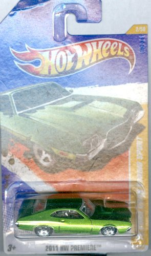 Hot Wheels 2011-002 '72 Ford Gran Torino Sport HW Premiere GREEN 1:64 Scale