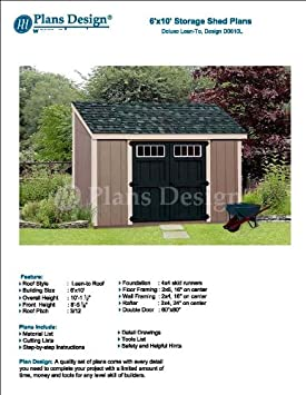 6 x 10 shed materials list