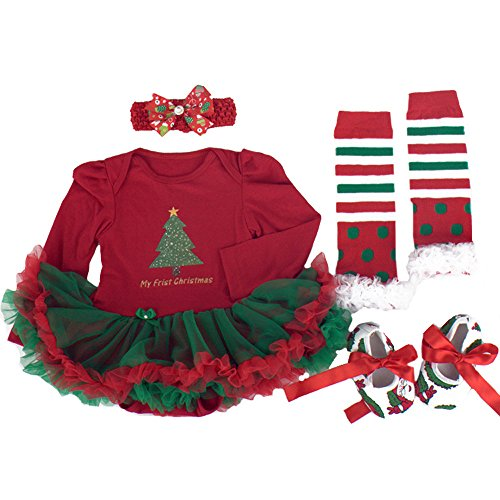 TANZKY® Infant Girl's Christmas Tutu Dress