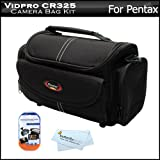 51%2BK4terrlL. SL160  Deluxe Rugged Camera Bag / Case For Pentax K 30, K30, K 5, K r, K x Digital SLR Camera + LCD Screen Protectors + MicroFiber Cleaning Cloth