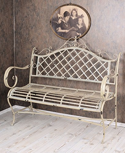 vintage gartenbank shabby chic bank weiss sitzbank garten. Black Bedroom Furniture Sets. Home Design Ideas