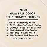FORD, YOUR GUM BALL COLOR TELL TODAYS FORTUNE, WATER SLIDE DECAL