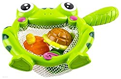 Happytime Bath Toy Storage Best Toddler Water Animals Frog Floating Bath Tub Toys With Net For 1year Old