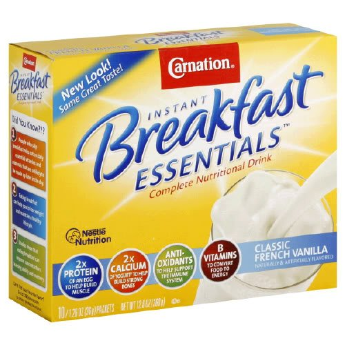 Carnation Instant Breakfast Classic French Vanilla, 10-Count Box (Pack Of 6)