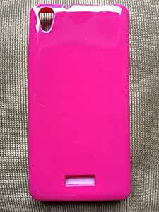Soft Glossy Premium Back Cover For Lava Iris X9 Pink