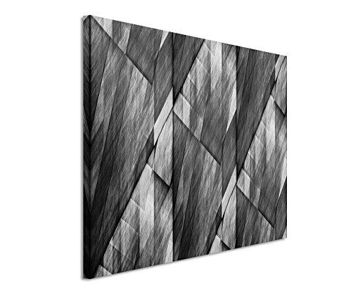 50x70cm Leinwandbild schwarz weiß in Topqualität abstrakt figuren