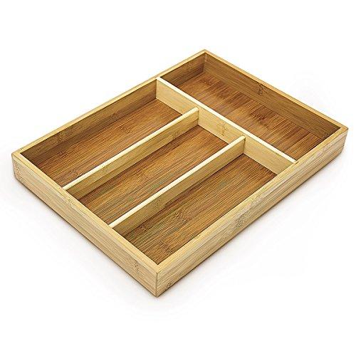 Relaxdays range couverts en bambou 4052025023911 cuisine - Organiseur de tiroir cuisine ...