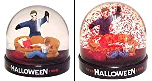 Halloween Michael Meyers Blood Snow Dome