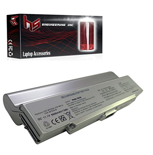 Click to buy HS Engineering Battery Sony VAIO VGN-CR305E/R - 9 Cell, 6600mah (Silver) - From only $64.99