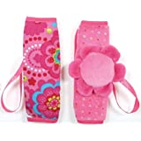 Tuc Tuc Newborn to Toddler Pink Car Seat Harness Pads, Strap Cover Buddies. Chip Chip Collection.