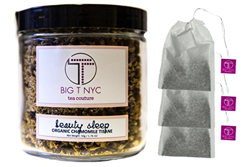 BIG T NYC Beauty Sleep Organic Chamomile Tea Tisane Loose Leaf Herbal Tea (50 Grams): BONUS 3 Biodegradable Tea Filters Included (Dragon Ball Energy Drink compare prices)