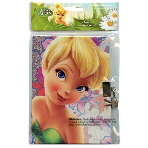 Disney Fairies Tinkerbell Sparkle Personalized Diary, Notebook W/lock