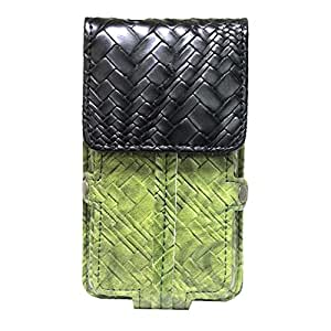 Jo Jo A6 Bali Series Leather Pouch Holster Case For Karbonn K4+ TiGreen Black Green Black