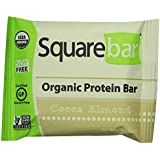 Squarebar Organic Protein Bar Cocoa Almond, 1.7-ounce Bars (Pack of 12)