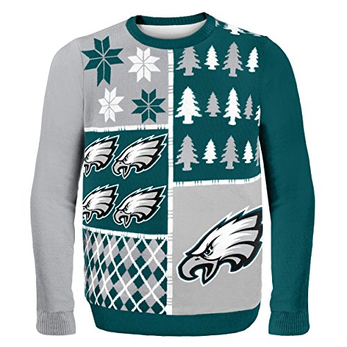 NFL Philadelphia Eagles Busy Block Ugly Sweater, X-Large, Green (Nfl Football Hoodies compare prices)