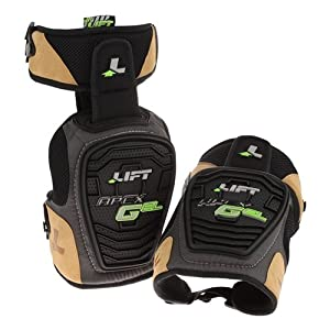 LIFT Safety Apex Gel Knee Guard (Black, One Size) by LIFT Safety