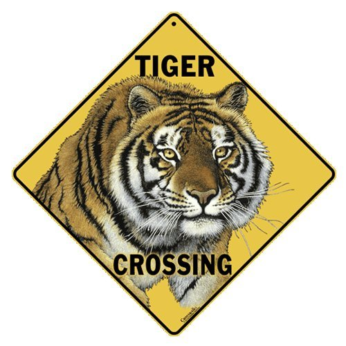 Tiger Crossing Sign 12
