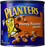 Planters Honey Roasted Peanuts, 52-Ounce Canister (Pack of 2)