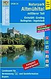 UK50-24 Naturpark Altmühltal, mittlerer Teil: Eichstätt, Greding, Beilngries, Ingolstadt, Heideck, Berching, Neuburg a.d.Donau (UK50 Umgebungskarte ... Karte Freizeitkarte Wanderkarte)