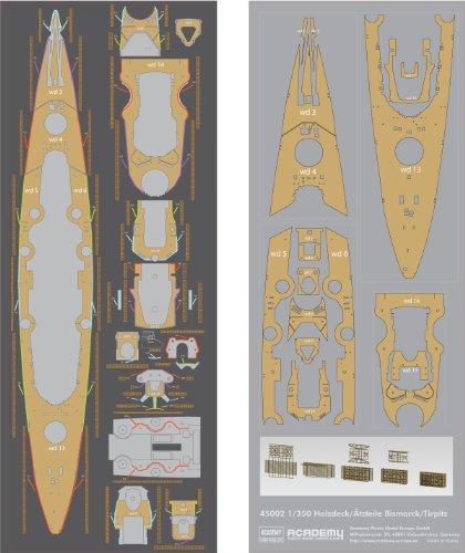 Academy-AC45002-1350-Holzdecktzteile-fr-BismarckTirpitz
