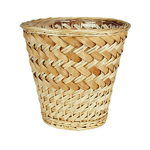 Household Essentials Medium Willow and Poplar Waste Basket, Light Brown (Wicker Style Trash Can compare prices)