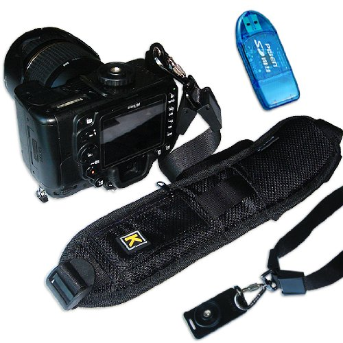 First2savvv Quick Release Professional Shoulder Sling Strap with storage pocket for Canon PowerShot SX50 HS,Nikon Film SLR Camera F6,sony Galaxy NX 20.3MP Digital Camera EK-GN120 FUJIFILM FinePix HS50 EXR with card reader (Hs Camcorder compare prices)
